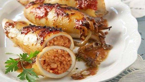 Calamares rellenos de carne